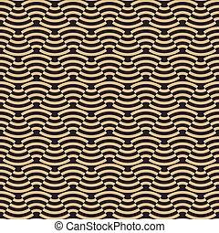 抽象的, 波, 金, パターン