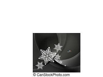抽象的, 波, 雪片, 背景, クリスマス