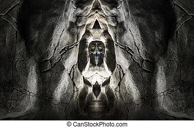 抽象的, 洞穴, 神聖