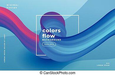 抽象的, 流れ, 波, 色, 背景, 構成