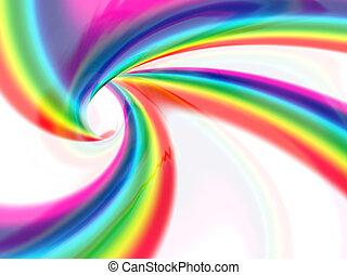 抽象的, 液体, 渦, カラーでいっぱいである