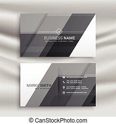 抽象的, 灰色, 名刺, デザイン, テンプレート