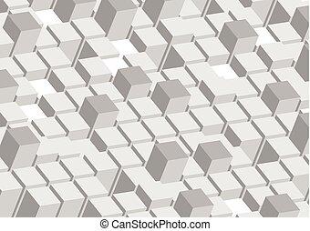 抽象的, 灰色, 形, 技術, 背景, 幾何学的, 3d