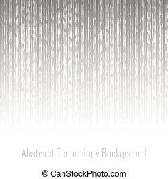 抽象的, 灰色, 技術, ライン, 背景