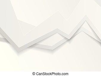 抽象的, 灰色, 背景, 白, 幾何学的, 3d