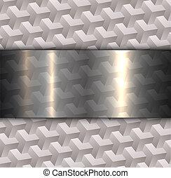 抽象的, 灰色, 背景, 3d