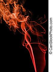 抽象的, 煙, 背景, 赤