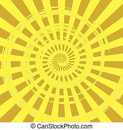 抽象的, 爆発, 背景, 黄色, 光線