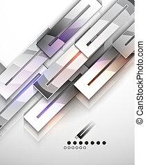 抽象的, 現代, ベクトル, デザイン, テンプレート, 幾何学的