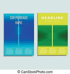 抽象的, 現代, ベクトル, デザイン, テンプレート, brochure.