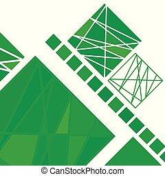抽象的, 現代, 幾何学的, 背景
