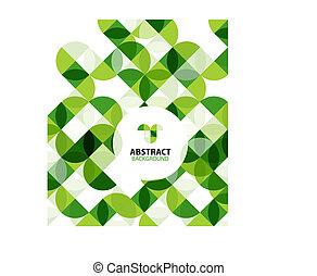 抽象的, 現代, 緑の背景, 幾何学的