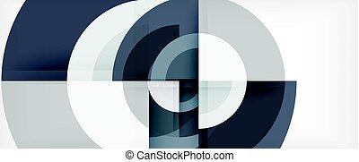 抽象的, 現代, 背景, デザイン, テンプレート, 円, 幾何学的