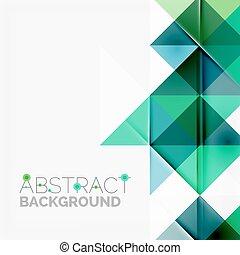 抽象的, 現代, 重なり合う, バックグラウンド。, 幾何学的, 三角形
