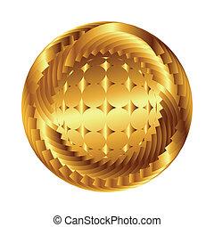 抽象的, 球, 地球, ベクトル, シンボル。