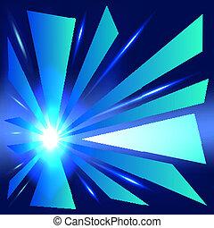 抽象的, 白熱, 青い背景