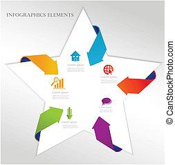 抽象的, 矢, templat, infographics