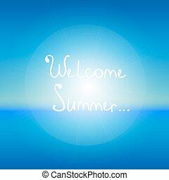 抽象的, 空, 海, 歓迎, summer., バックグラウンド。