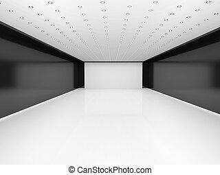 抽象的, 空 部屋, イラスト, 3d
