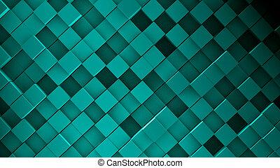 抽象的, 立方体, イメージ, 背景