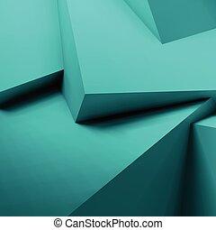 抽象的, 立方体, 背景, 重なり合う, 幾何学的