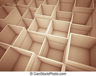 抽象的, 立方体, 背景, 3d
