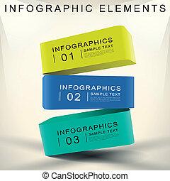 抽象的, 立方体, 3d, infographics