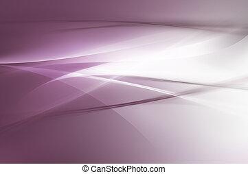 抽象的, 紫色, 波, 背景