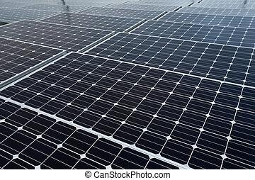 抽象的, -, 細部, 源, 太陽エネルギー, 回復可能, パネル