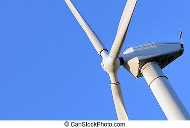 抽象的, 終わり, の, 風タービン, 生産する, 代替エネルギー