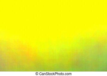 抽象的, 緑の背景, 自然, blurry, 黄色