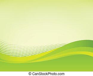 抽象的, 緑の背景