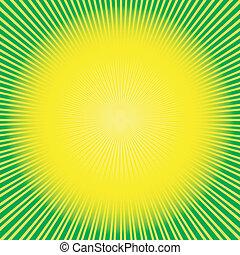 抽象的, 緑の黄色, 背景, (vector)