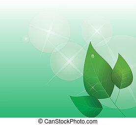 抽象的, 緑は 去る, 背景