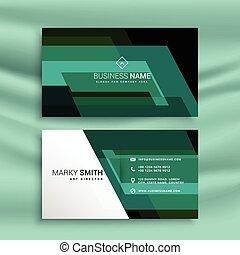 抽象的, 緑ビジネス, カード, デザイン, テンプレート