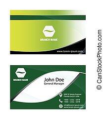 抽象的, 緑ビジネス, カード, デザイン