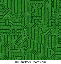 抽象的, 緑, エレクトロニクス, 手ざわり