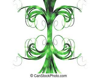 抽象的, 緑, カーブ