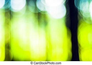 抽象的, 緑, フォーカス, 背景, から