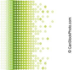 抽象的, 緑, モザイク, 背景