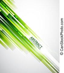 抽象的, 緑, ライン, 背景