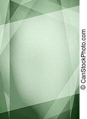 抽象的, 緑, 型, 背景