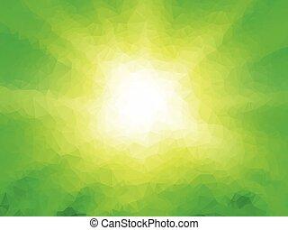 抽象的, 緑, 幾何学的, 背景, 光線