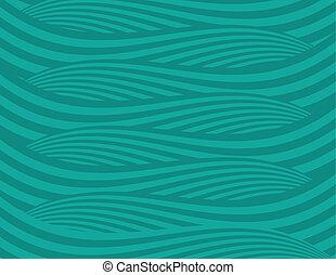 抽象的, 緑, 波