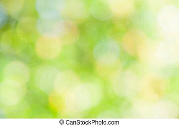 抽象的, 緑, 焦点がぼけている, 背景
