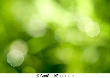 抽象的, 緑, 自然, backgound