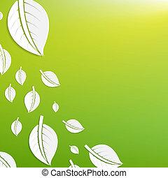 抽象的, 緑, 葉