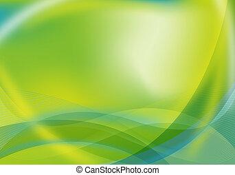 抽象的, 緑, /, 青, デザイン