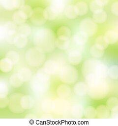 抽象的, 緑, bokeh, 背景