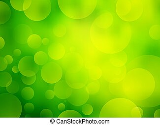 抽象的, 緑, bokeh, 背景, 円